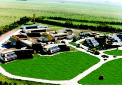 Aerial view of the Institute for Biochemical Research /UNESCO Chair in Bahia Blanca, Argentina.