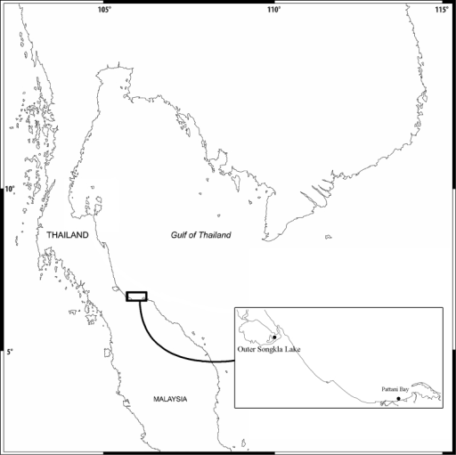 Map of the sampling area.