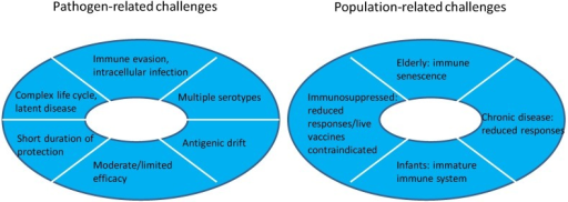 Challenges for modern vaccine development.