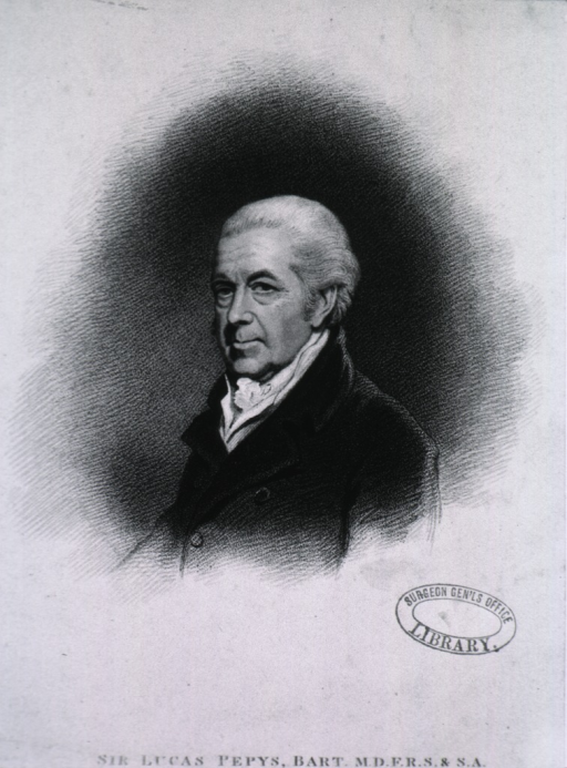 <p>Head and shoulders, left pose, white haired man.</p>