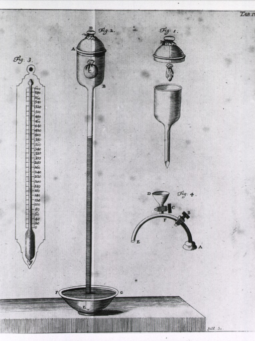 <p>A temperature experiment set up which includes a somewhat conventional looking thermometer.</p>