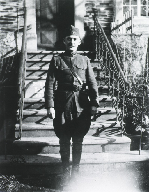 <p>Full length, standing, full face; wearing uniform and cap.</p>