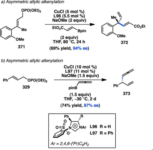 Cu-CatalyzedAsymmetric Allylic Substitution with Other C(sp2)-HybridizedBoron