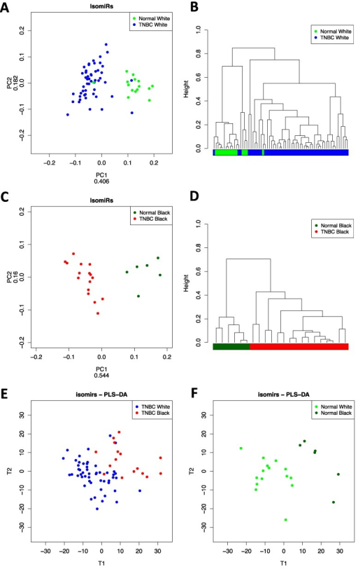 Race-specific isomiR profiles in TNBC and normal tissue ...