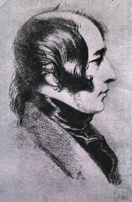 <p>Half-length, right profile, as a young man.</p>