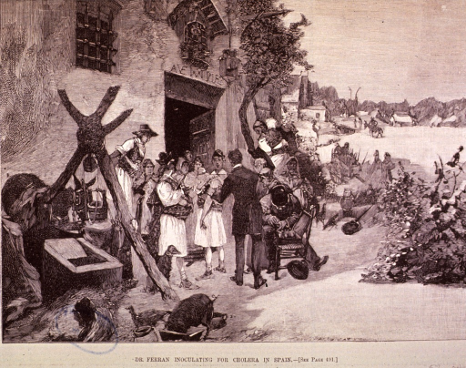 <p>Dr. Ferran accompanied the cholera commission from Barcelona to Marseille.</p>