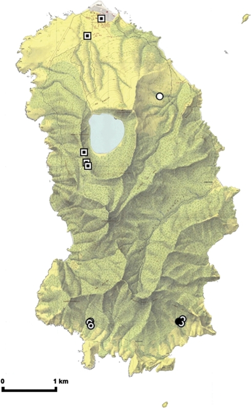 Map Of Anon Indicating Eidolon Helvum Colonies And Sampling Sites Key Circles Indicate Colony