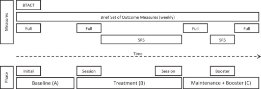 Phases of the intervention program and assessment time points (SRS, Session Rating Scale).