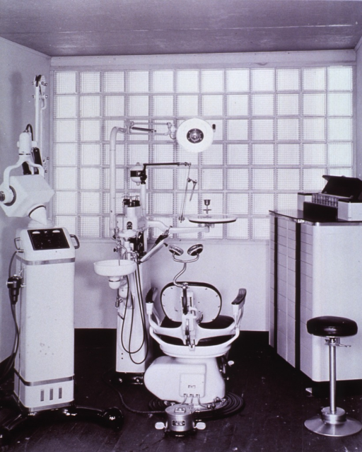 <p>Interior view: chair, dental unit, and x-ray machine.</p>