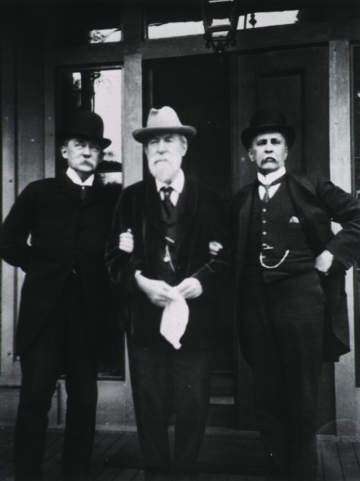 <p>Warren, Bowditch &amp; Osler at Dr. Bowditch's house in Jamaica Plains, Mass.</p>