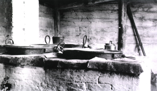 <p>An interior view of a camp kitchen at Gungalin.</p>