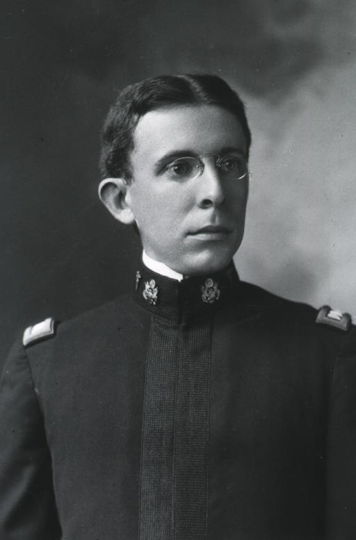 <p>Head and shoulders, head to right; in uniform.</p>