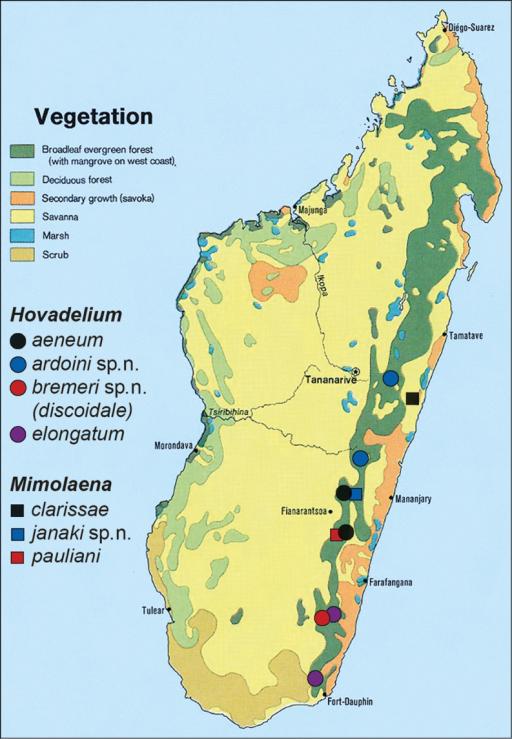 Records Of Laenini In Madagascar Vegetation Map Modif Openi - Us vegetation map