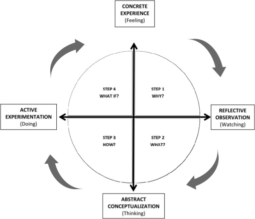 Kolb's learning cycle and the 4MAT model [15].