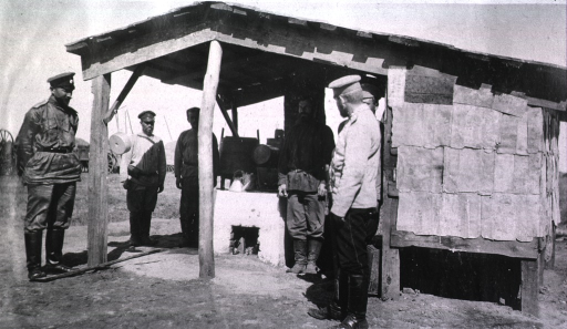 <p>A view of an open camp kitchen in Gungalin.</p>