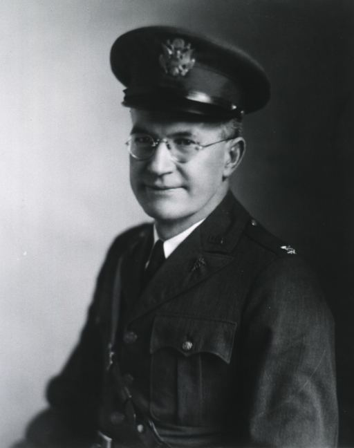 <p>Half-length, left pose, full face; wearing uniform and cap.</p>