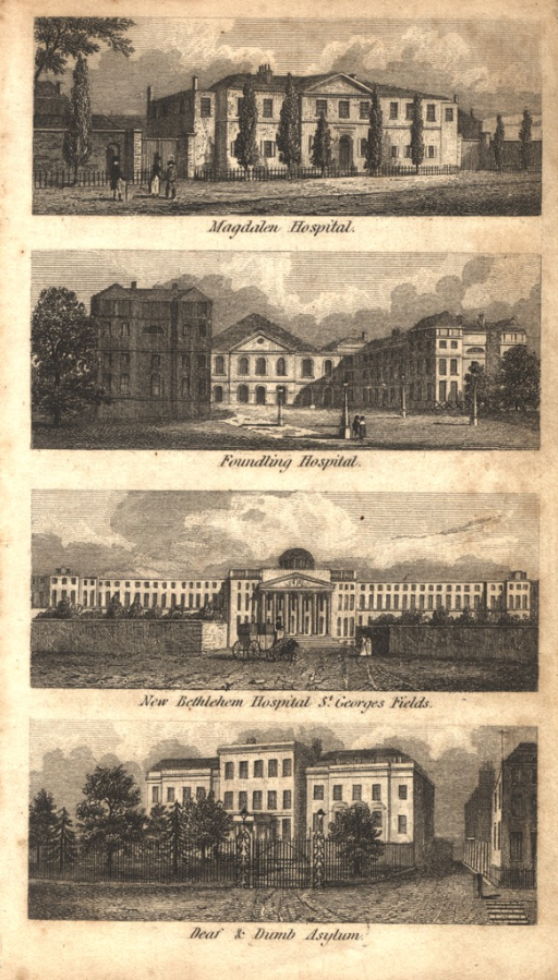 <p>Four separate views of the building facʹades.</p>