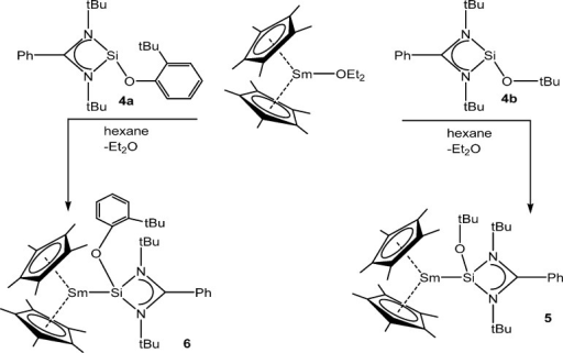 Synthesis of Samarium Silylene Complexes 5 and 6