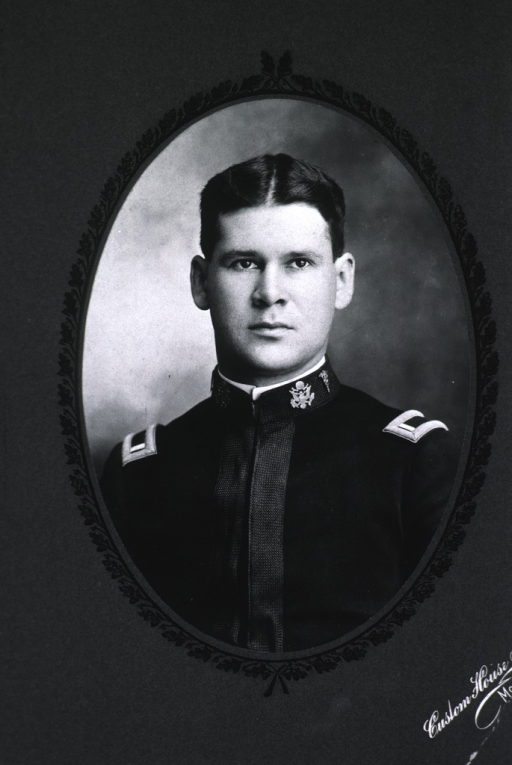 <p>Head and shoulders, full face, uniform.</p>