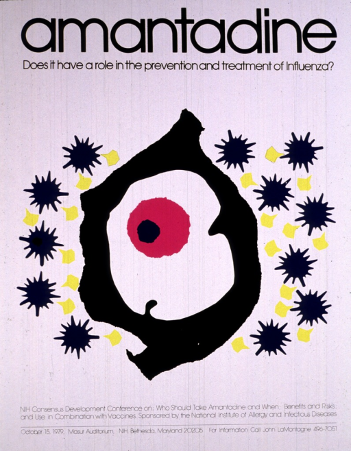 <p>A pink circle with a blue dot on it is in an irregular white space surrounded by a black wall.  Outside the wall are spiky blue balls and stingray-shaped yellow objects.</p>