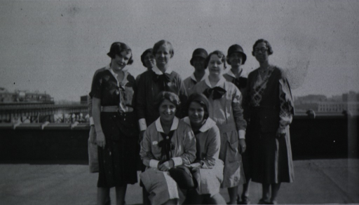 <p>Gathered together on the roof of the building for a group photo.</p>