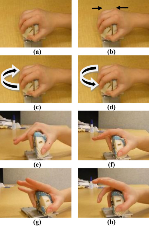 Hand gestures and motions chosen for classification in | Open-i