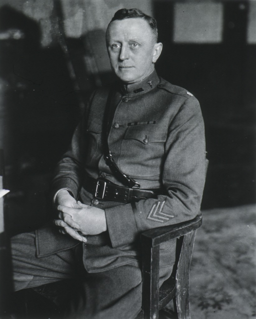<p>Seated, wearing uniform (Lieut. Colonel, Sanitary Corps).</p>