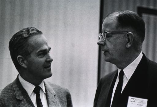 <p>Dr. Marston and Dwight Wilber at the Regional Medical Program Meetings.</p>