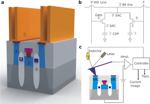 C-AFM analysis in DRAM cell structure.(a) The schematic | Open-i