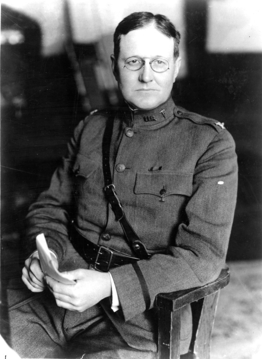 <p>Colonel Percy M. Ashburn, Medical Corps U.S. Army, sits for a portrait in his World War I era uniform.</p>