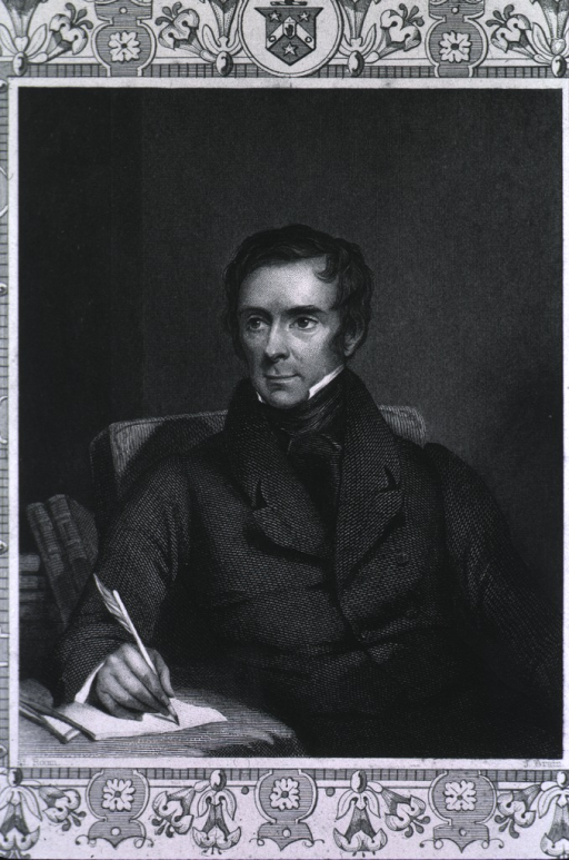 <p>Seated, face turned slightly to the right, holding quill pen.</p>