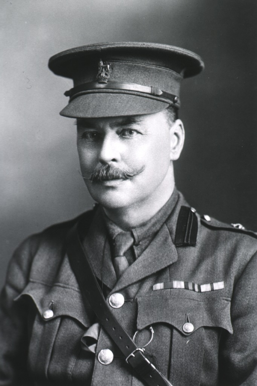 <p>Head and shoulders, front; in uniform of British Colonel with cap.</p>