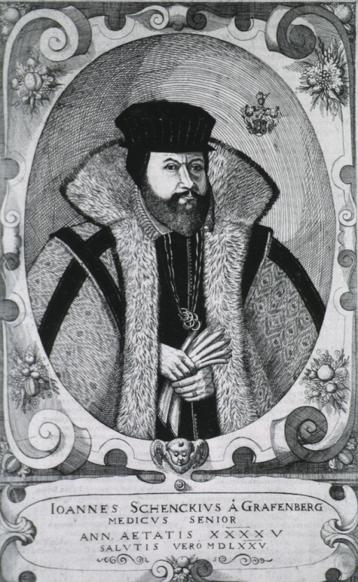 <p>Standing, with fur-trimmed cloak and gloves; in oval.</p>