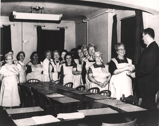 <p>Graduation ceremonies at a homemaker service organization in Lawrence, Massachusetts.</p>