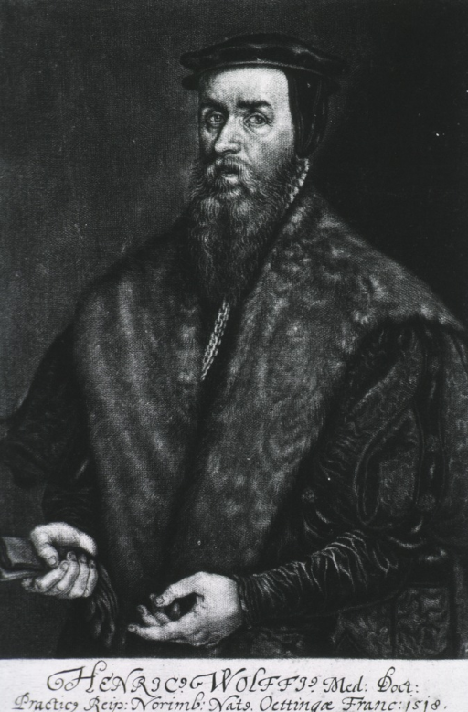<p>Half length, left pose, showing both hands, holding gloves.  Long fur trimmed robe and cap.</p>