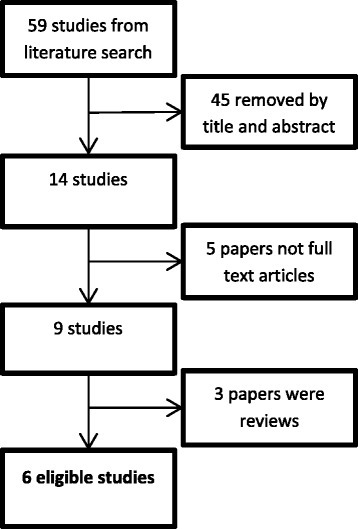 Flowchart showing study selection