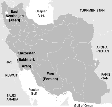 Map Of Iran Showing The Provinces Of Four Study Populations Dna Samples Of Persian Population