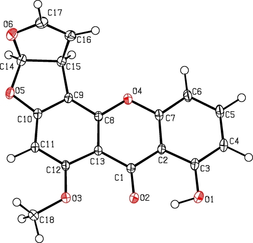 X-ray structure of sterigmatocystin (1) (Deposited Data-CCDC 780811)