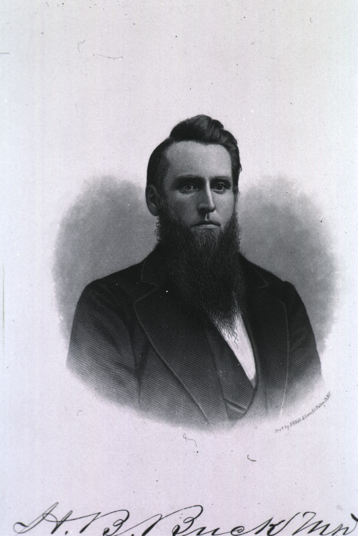 <p>Head and shoulders, long pointed beard, in oval.</p>