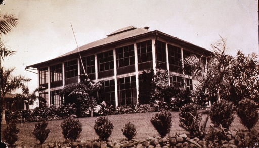 <p>Exterior of building in Panama(?), possibly the headquarters for the Mosquito Control in the country.</p>