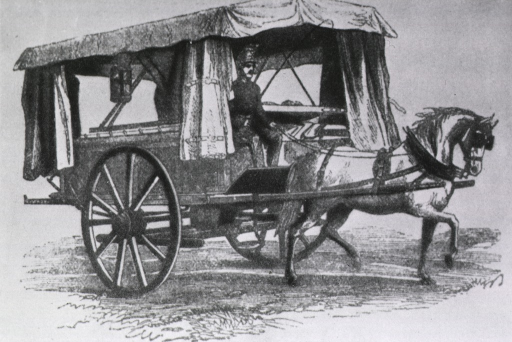 <p>Ambulance car used during the Civil War.</p>
