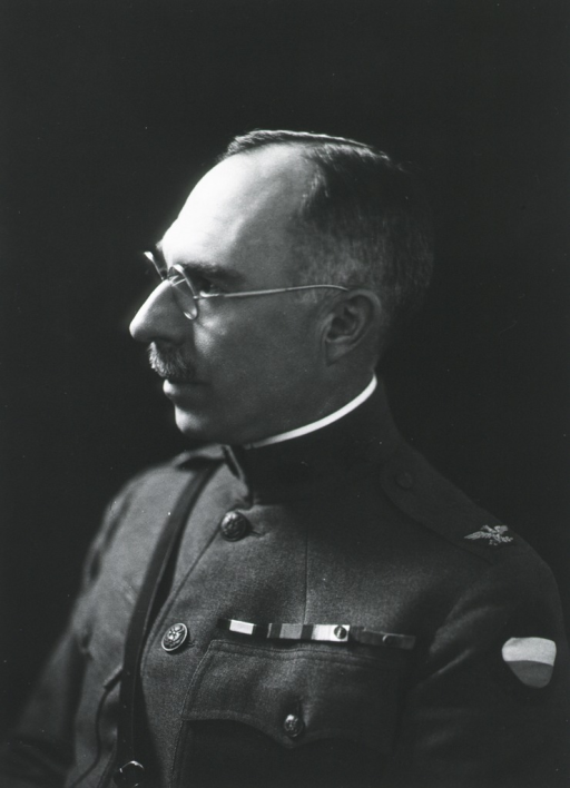 <p>Head and shoulders, left profile in uniform.</p>