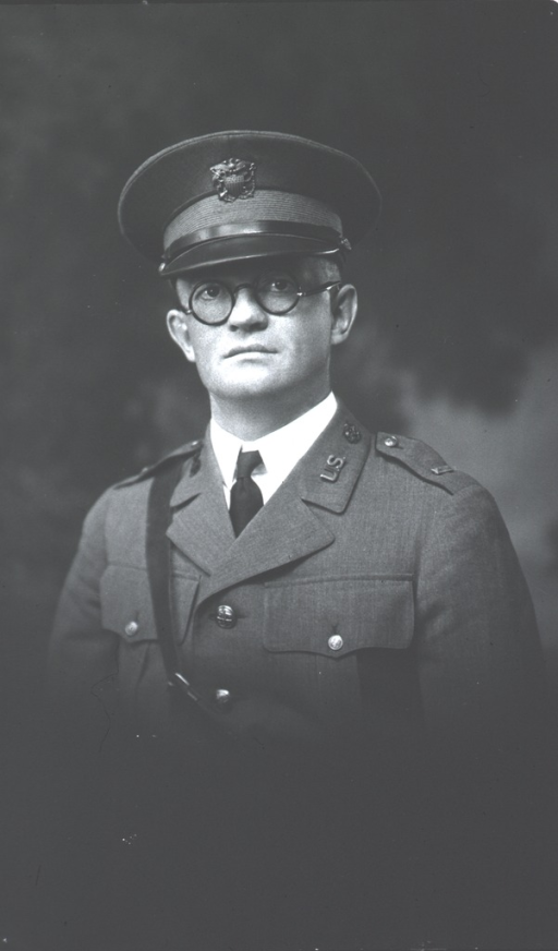 <p>Half-length, full face, wearing U.S. Army uniform and cap with insignia.</p>