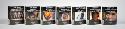 Winfield Blue 25s: packs showing the second set of seven health warnings. Source: Quit Victoria, December 2013.