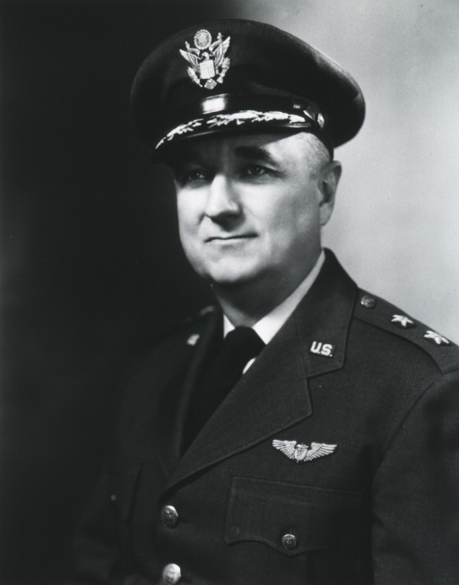 <p>Head and shoulders, head left, uniform, cap.</p>