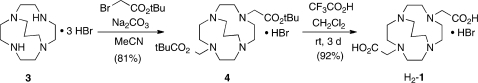 Synthesis of H2-C3B-DO2A (H2-1)