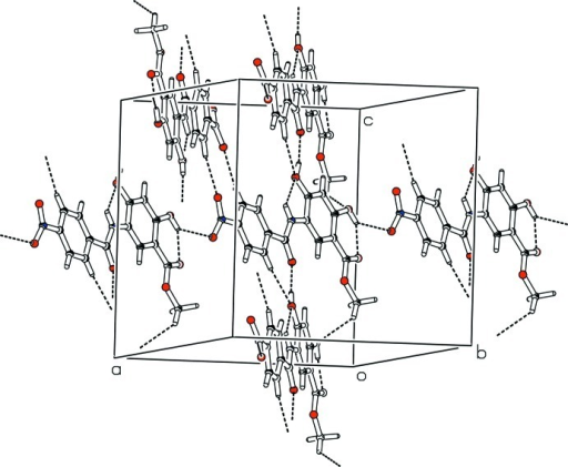 The partial packing, which shows that molecules form various ring motifs to form three dimensional polymeric network.