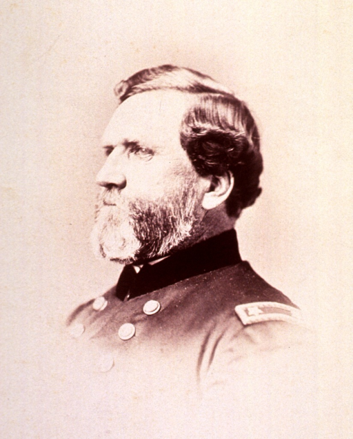 <p>Head and shoulders, left pose; in uniform.</p>