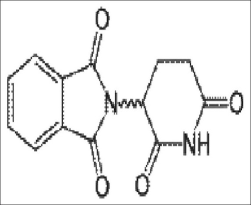 Molecular structure of thalidomide