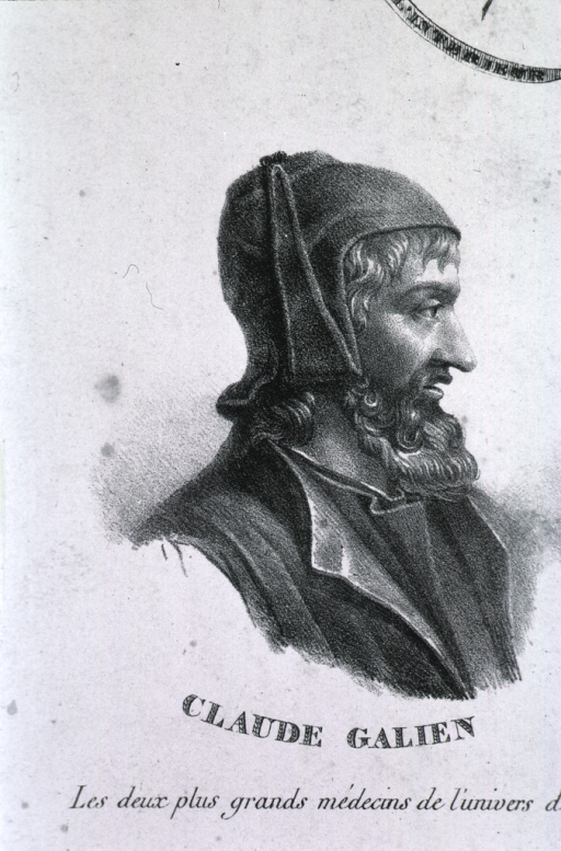 <p>Showing Galen, head and shoulders, right profile; and Hippocrates, head and shoulders, left pose, full face.</p>